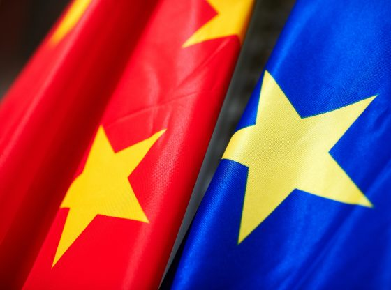 The Chinese and EU Flag