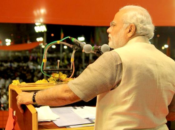 Indian PM addressing election campaign