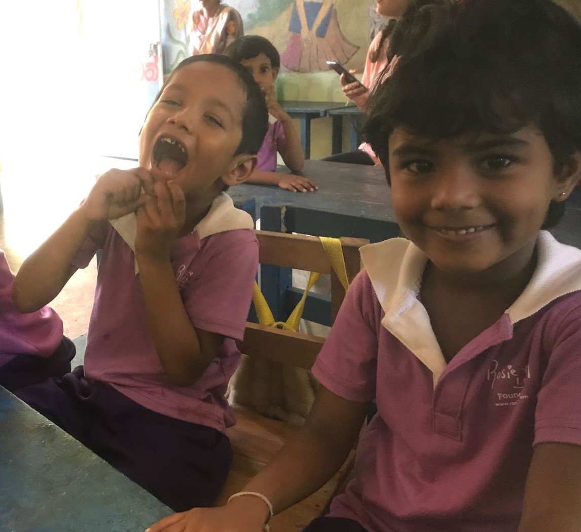 Girls studying at the Rosie May School in Sri Lanka